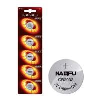 NANFU - CR2032 3V Lithium Coin Battery - Long Lasting Battery - 5 Count