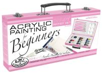 ROYAL BRUSH PA-ACR3000 Royal and Langnickel Pink Art Acrylic Painting Artist Set for Beginners, Pink