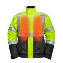 Mobile Warming Men's Heated High-Viz Jacket(7.4V)