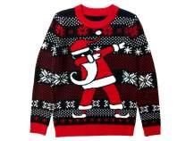 Tstars Dabbing Santa Christmas Sweater Gift for Boys Girls Dab Santa Xmas Kids Sweater