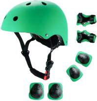JIFAR Adjustable Helmet for Youth Kids Toddler Boys Girls,Protective Gear with Elbow Knee Wrist Pads for Multi-Sports Skateboarding Bike Riding Hiking Scooter Inline skatings Longboard