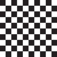 """Party Essentials Heavy Duty Printed Plastic Table Cover Available in 44 Colors, 54"""" x 108"""", Black and White Checked"""