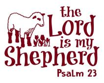 Psalm 23 for Kids Wall Decal is a Vinyl Poster Wall Decor Displaying a The Lord is My Shepherd Bible Quotes Inspirational Wall Art for Women, Men or Children's Room - Burgundy