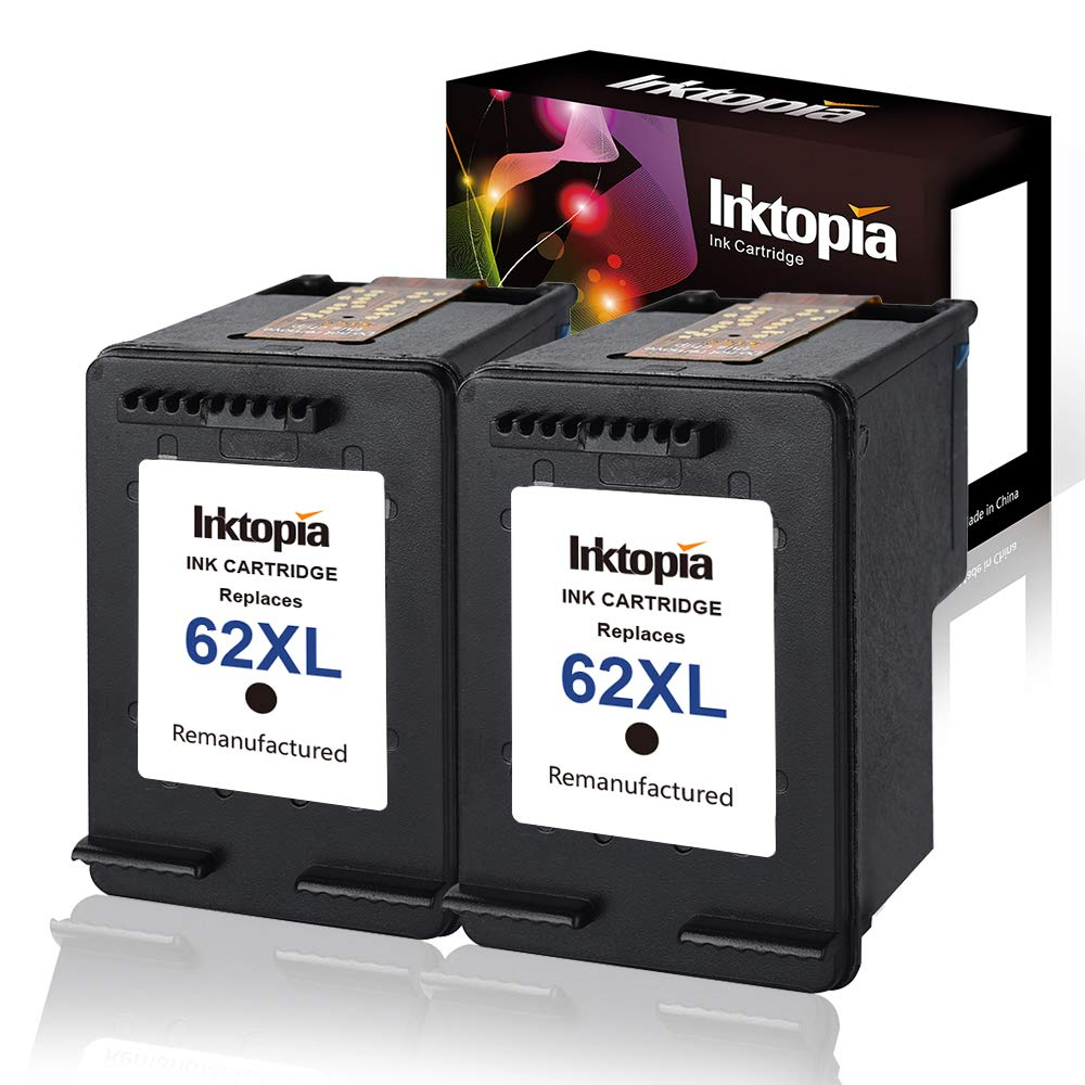 Inktopia Remanufactured Replacement for HP 62XL 62 XL Ink Cartridge (C2P05AN)