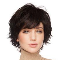 BLONDE UNICORN Natural Short Wigs for Women Human Hair Chestnut Brown