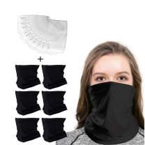 Bandanas Neck Gaiter Magic Face Mask Headband for Women Hiking, Motorcycling, Yoga