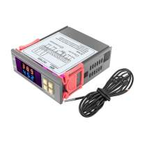 DST1020 AC 110V-230V Digital Dual Display Temperature Controller Thermostat with DS18B20 Sensor 1M Waterproof Line