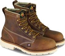 "Thorogood Men's American Heritage 6"" Round Toe, MAXWear 90 Safety Toe Boot"