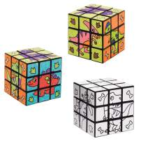 Baker Ross Dinosaur Colour-in Puzzle Cubes (Pack of 2)