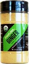FreshJax Premium Organic Spices, Herbs, Seasonings, and Salts (Certified Organic Ginger Root Powder - Large Bottle)