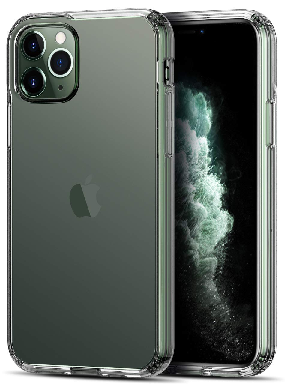 CASEVASN iPhone 11 Pro Case, [Shock-Absorption] Air Hybrid Slim Thin Shockproof Anti-Drop Crystal TPU Bumper + [Clear] Hard Back Protective Case Cover for iPhone 11 Pro 5.8'' (Clear)