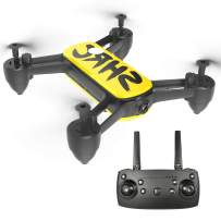 HR 4k Camera GPS Drone with 5G WiFi Live Video Brushless Quadcopter,Auto Return Home, Follow Me, Selfie Drone for Adult Beginner Expert (Yellow)