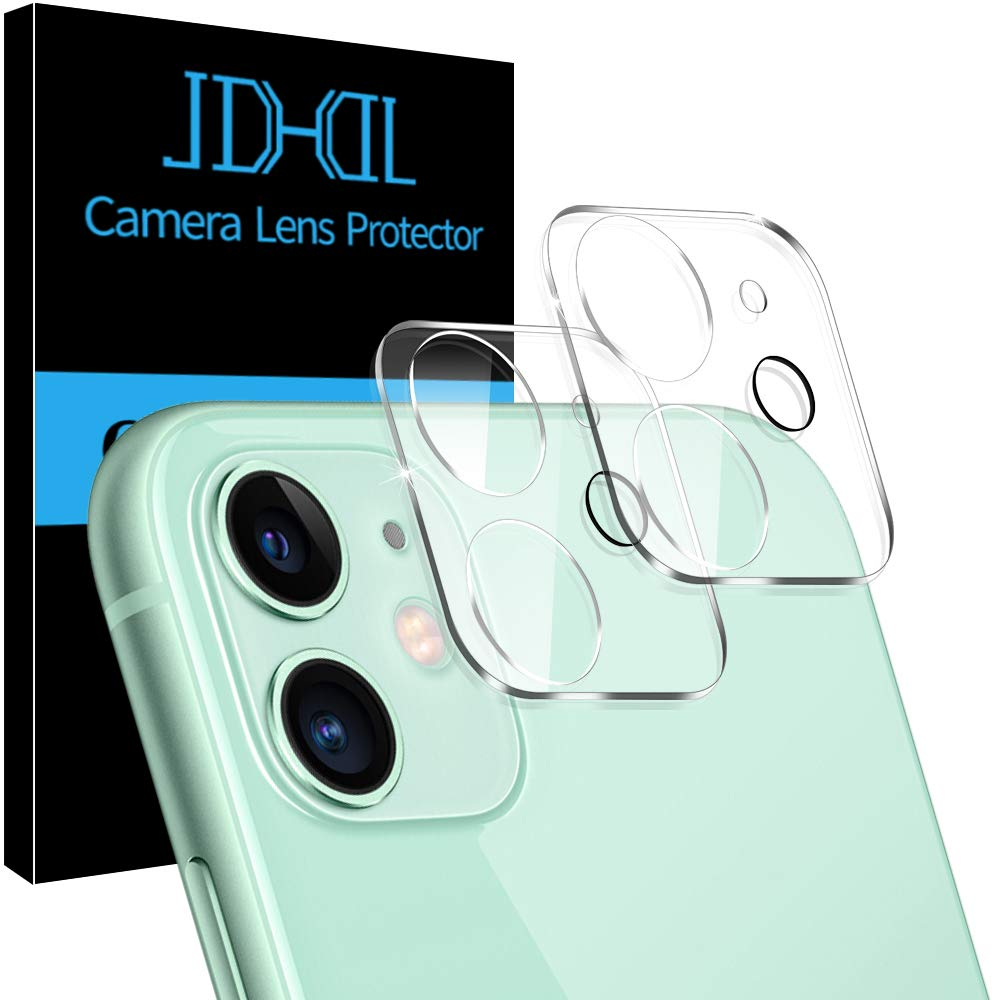 """[2 Pack] JDHDL Camera Lens Protector for iPhone 11 Tempered Glass HD Clear, [Easy Install] [9H Hardness] [Anti-Scratch] [Upgrade Flash Friendly] [Bubble Free] Camera Protector 6.1"""""""