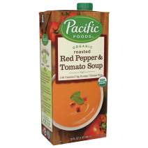 Pacific Foods Organic Creamy Roasted Red Pepper & Tomato Soup, 32oz, 12-pack