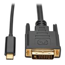 Tripp Lite USB C to DVI Adapter Cable Converter 1080p M/M Thunderbolt 3 Compatible, USB Type C to DVI, USB-C, USB Type-C 3ft 3' (U444-003-D)
