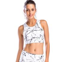 Move With You Womens Crop Tank Tops Longline Sports Bra with Built-in Bra Workout Running