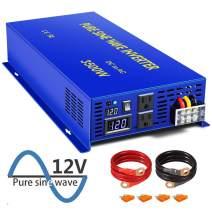 XYZ INVT 3500 Watt Pure Sine Wave Inverter 12V DC to 120V AC, 3500W Power Invert Surge 7000W Power Converter for Solar System.(3500W 12V DC to 120V AC)