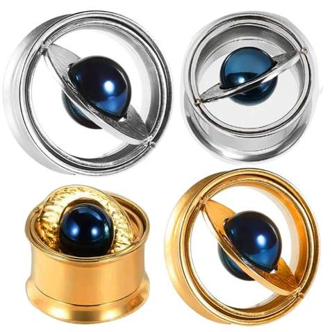 2pc 00g Gauge 10mm Stainless Steel Tunnel Ear Plug Expander Stretcher Stud