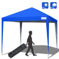 Quictent Upgraded Privacy 10x10 EZ Pop Up Canopy Tent Gazebo Party Tent Waterproof with Roller Bag -5 Colors (Medium Blue)