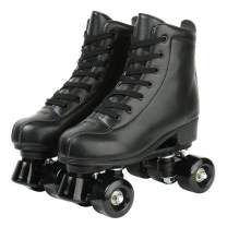 XUDREZ Roller Skates, Double Row Skates Adjustable Leather High-top Roller Skates Perfect Indoor Outdoor Adult Roller Skates with Bag