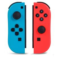 NOPOINO Joy-Pad Controller Compatible with Switch,Switch Gamepad with Dual Vibration Motor Gyroscope, with Wrist Strap and Support Wake-up Function(Blue and Red)