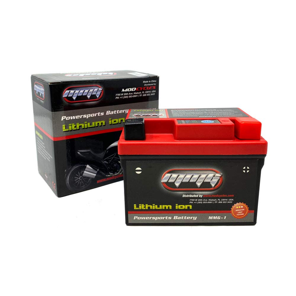 MMG Scooter Battery Lithium Ion Sealed Powersports Battery 12V 120CCA Motorcycle ATV YTX5L-BS 5L-BS (MMG1)