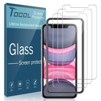 "TOCOL [3 Pack] for iPhone XR and iPhone 11 (6.1"") inch Screen Protector, Tempered Glass Anti Scratch HD Clear with [Alignment Frame Easy Installation]"