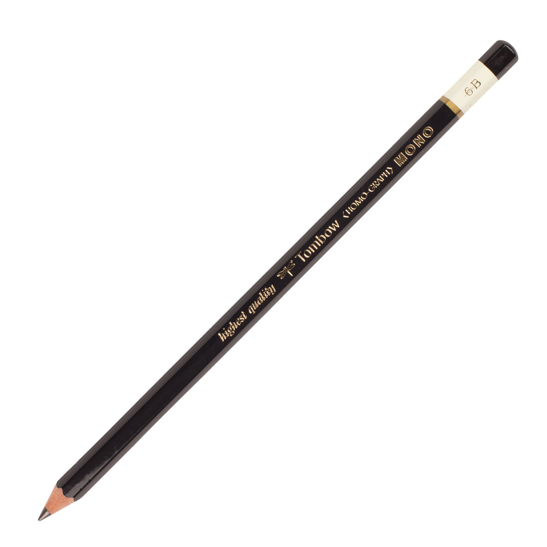 Tombow MONO Drawing Pencil, 6B, Graphite 12-Pack