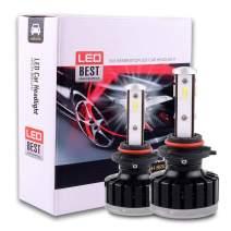 ECCPP 9006 LED Headlight Bulb Super Bright Cree White Auto Headlamp Conversion Kit High Low Beam - 8000Lm 80W 6000K Focus Light - 1 Year Warranty (Pack of 2)