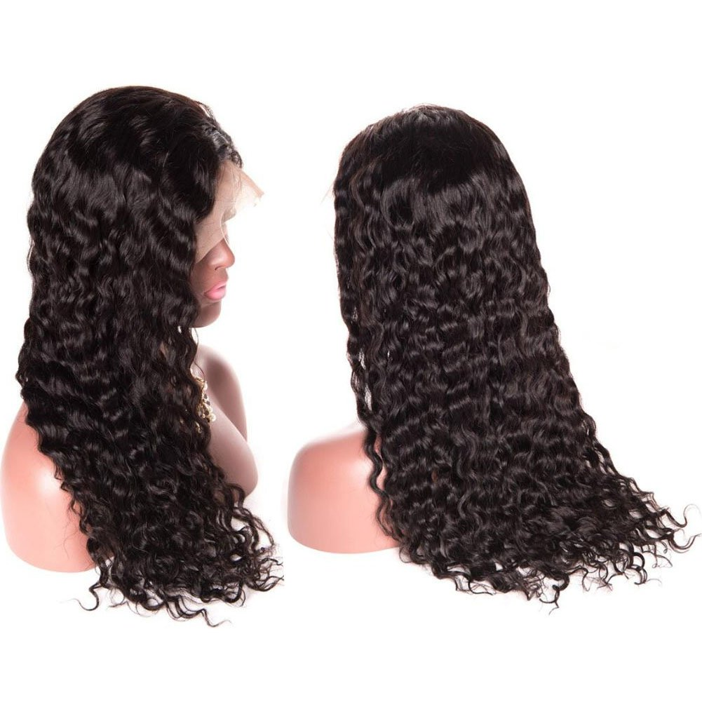 Glueless Wigs Water Wave Lace Front Wigs Wet and Wavy Wigs for Black Women Human Hair Lace Frontal Wigs with Baby Hair Pre Plucked 13x4 HD Lace Wigs 130% Density 100% Unprocessed Lace Front Wigs