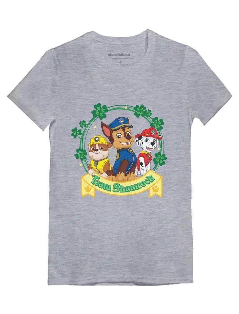 Team Shamrock St. Patrick Day Paw Patrol Gift Toddler/Kids Girls' Fitted T-Shirt