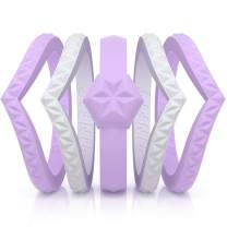 Rinfit Women's Silicone Wedding Rings. 5 Pack. Stackable Rubber Engagement Bands. U.S. Patent Pending