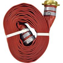 """JGB Enterprises A008-0321-1625 Eagle Red PVC Discharge Hose, 2"""" x 25', Male x Female Water Shank Couplings, 150 psi Working Pressure, -14 Degree F to 170 Degree F"""