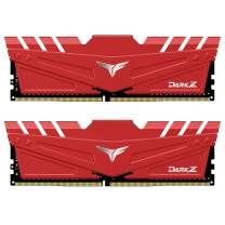 TEAMGROUP T-Force Dark Z 16GB Kit (2x8GB) DDR4 Dram 3200MHz (PC4-25600) CL16 288-Pin Desktop Memory Module Ram (Red) - TDZRD416G3200HC16CDC01