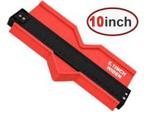Contour Gauge 10inch Shape Duplicator Profile Copy Tool Shape Measuring for Corners and Contoured Red