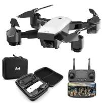 KINGBOT RC Drone, 2.4Ghz Foldable Quadcopter Home Toys WiFi FPV Remote Control Drones with 120°Wide-Angle 5mp 1080P Camera & Altitude Hold Functions