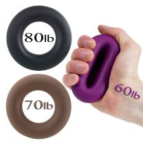 Iron Crush Hand Grip A Hand & Forearm Exerciser and Strengthener - Set of 3 Level Resistance - 2 Year Warranty - Extension, Crushing & Pinch Grip Training Solution - Best Grips on The Market!