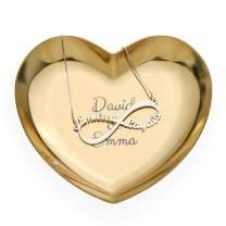 MyNameNecklace Personalized Custom Made Heart Tray-Jewelry Dish Ring Holder Organizer- Home Decor Valentine's Day LoveGift