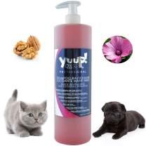 YUUP! Italy Home & Professional Cat and Dog Shampoo for Dark Black Coats - Antioxidating & Glossing & Detangling & Reviving Hairs' Color(17 oz/ 33.8 oz)
