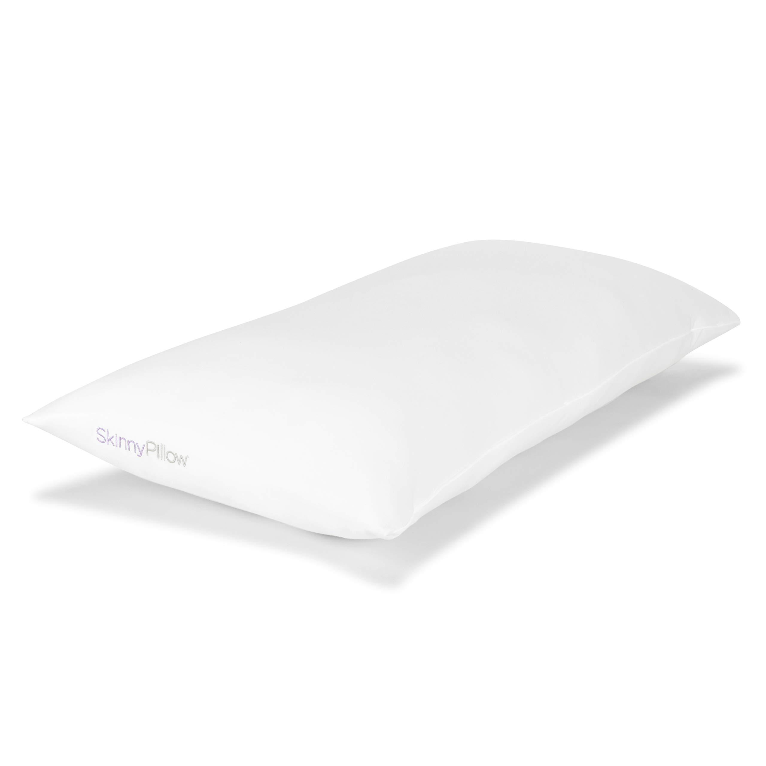 SkinnyPillow   Organic Kapok Pillows for Sleeping (King, Soft)   Handmade, Non-Toxic, Eco-Friendly   Natural Cotton Cover   Organic Cotton Pillow Case