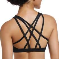 CLOUSPO Sports Bras for Women Yoga Workout Fitness Tops Bra