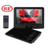 """YOOHOO 11.5"""" Portable DVD Player for Car Kids,9'' HD Swivel Screen, Remote Control,Support CD/DVD/SD Card/USB, 5-Hour Built-in Rechargeable Battery(Black)"""