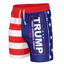 Greater Half Trump KAG American Flag Swim Trunks