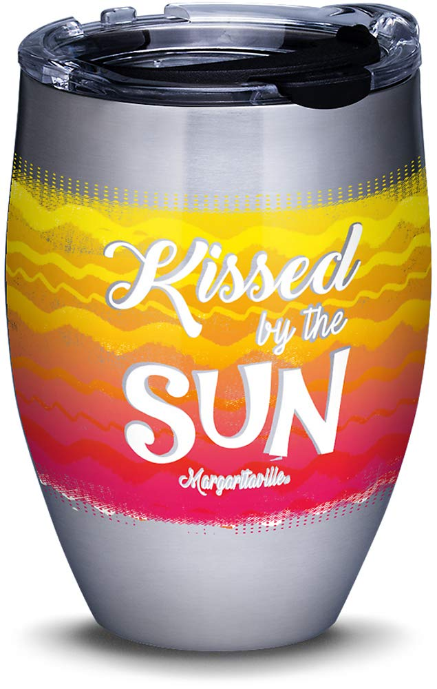 Tervis 1320421 Margaritaville - Kissed By Sun Stainless Steel Insulated Tumbler with Lid, 12 oz, Silver