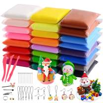 VANKERTER 24 Bright Colors Air Dry Clay Kit Ultra Light Clay Magic Modeling Clay with Accessories, Tools