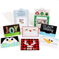 Big Dot of Happiness Assorted Holiday Cards - Christmas Money and Gift Card Holders - Set of 8