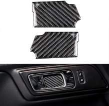 2pcs Car Inner Door Handle Bowl Cover Trim Decoration Frame for Ford Mustang 2015-2019 (Carbon Fiber)