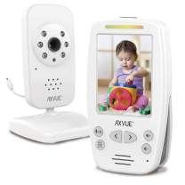 "Video Baby Monitor 2.8"" Screen, Auto Night Vision, Long Range, Slim Handheld, Temperature Detection, E660, Pukka White"