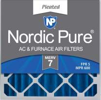 Nordic Pure 20x20x4 MERV 7 Pleated AC Furnace Air Filter 1 Pack