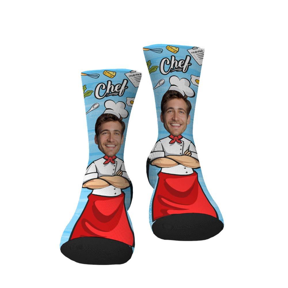 Custom Face Socks Personalized Photo on Crew Socks Basketball Player Socks Funny Gifts for men women